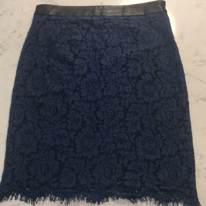 EUC Brixon Ivy Lace and Leather Pencil Skirt